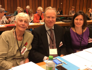 At the NGO Committee on the Status of Women, Geneva