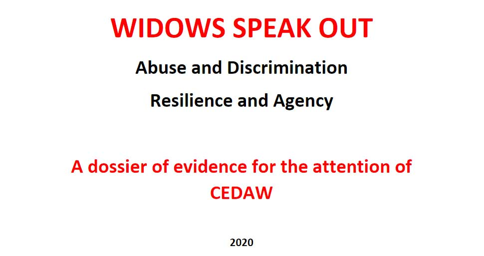 WIDOWS SPEAK OUT