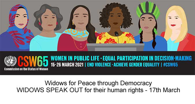 Launch of Report on Widows' Rights #CSW65