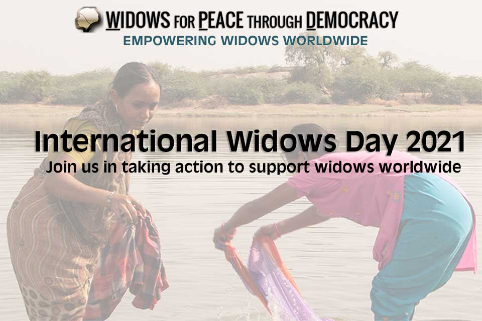 Join us in taking action to support widows worldwide on International Widows Day 2021